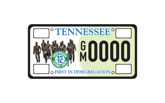 Green McAdoo Cultural Center License Plate