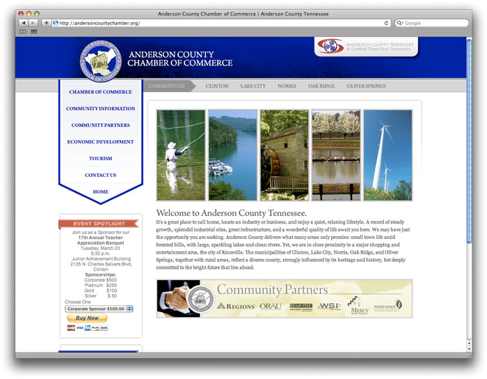 Anderson County Chamber of Commerce Web