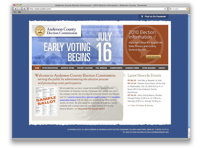 Anderson County Election Commission Web