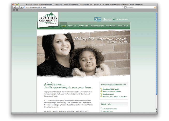 Foothills Community Development Center Web