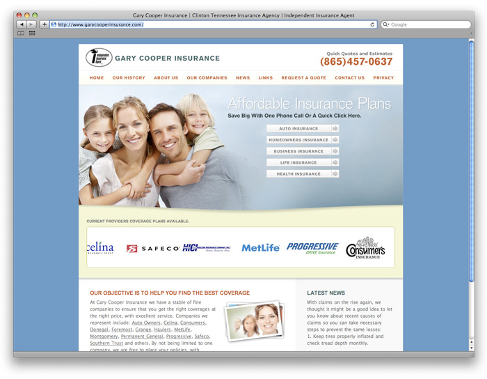 Gary Cooper Insurance Web