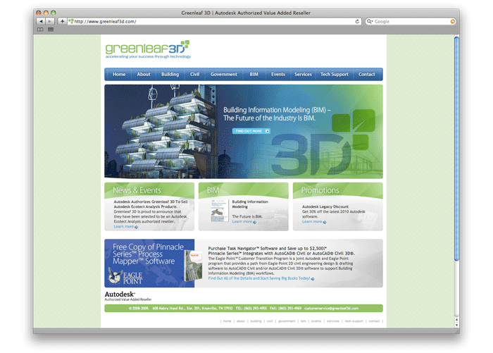 Greenleaf 3D Web