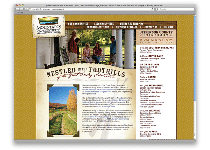 Jefferson County Tourism Web