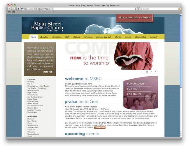 Main Street Baptist Church Web