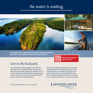 Lakeside Coves Waterfront Living Ad