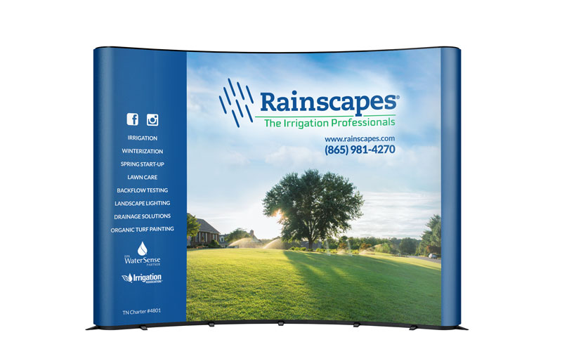 Rainscapes Trade Show Display